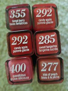 Lot of 6 new Covergirl Lipsticks