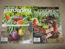 LOT 2 GARDENING Easy Edible Grow Your Own & CONTAINER 173 Plant by Numbers 2014