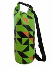 12L heavy duty green dry bag with strap