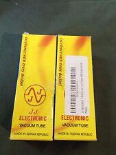 New JJ Electronics Vacuum Tube Beam Power Amp Matched Pair T-6L6GC