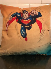 Superman, justice league, cushion cover, hessian style cussion cover