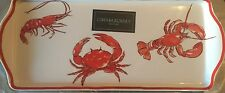 Cynthia Rowley Red Crab MELAMINE Serving Platter Tray New Indoor Outdoor beach