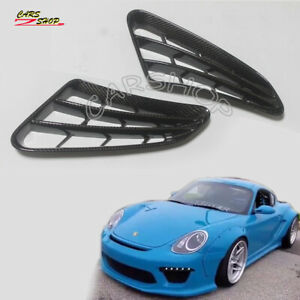 Dry Carbon Fiber Side Vent Air Intake Cover For Porsche 987 Boxster Cayman 05-12