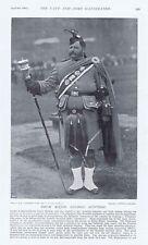 Londra scozzese REGGIMENTO Drum Major Goodman-antica stampa fotografica 1897