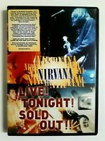 Nirvana Live! Tonight!Sold Out!! 2006 Geffen Records Region 2 DVD Brand New