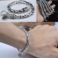 5mm Byzantine Chain Bracelet 925 Sterling Silver Handmade Retro Jewelry Gift