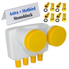 Monoblock Quad LNB 6° Astra Hotbird 4 participantes Full HD TV Satélite LMB