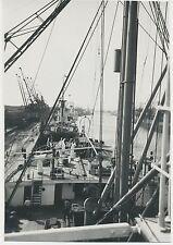 Foto Hamburg-Haffen-Schiffe 1936   (W265)