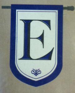 Evergreen Monogram Flag - E