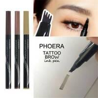PHOERA Microblading Tattoo Eyebrow liquid Ink Pen Waterproof 4 Fork Pencil Brow