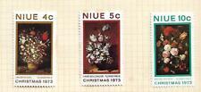 Niue 1973 Christmas set of 3 Mint Hinged on Album page