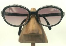 Vintage Dahlia Deluxe Black Crystal Oval Sunglasses FRAMES ONLY