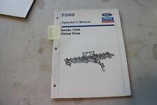 Ford 133a Chisel Plow Operators Manual