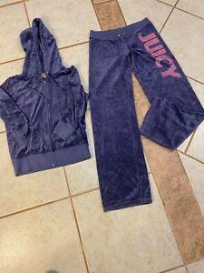 juicy couture Purple tracksuit pants Size S & Hoodie Size M