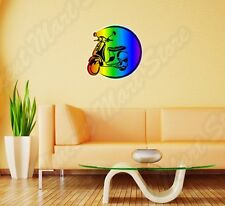 "Scooter Rainbow Lesbian Gay Pride LGBT Wall Sticker Room Interior Decor 22""X22"""