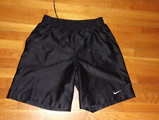 NIKE BLACK ATHLETIC BASKETBALL SHORTS WITH LINING MENS XL EXCELLENT CONDITION