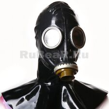 Fetish latex gummi rubber black gas mask Cyber Plague Doctor (optional size)