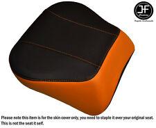 ORANGE & BLACK VINYL CUSTOM FITS HARLEY BRAKEOUT 13-16 SUNDOWNER REAR SEAT COVER