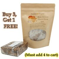 8 oz Pouch African Black Soap 100% Raw Organic Natural Ghana Premium Unrefined