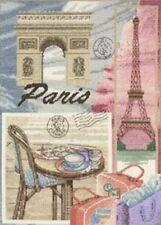 """MAIA 1039, Kit points de croix comptés, """"Paris"""", Tour Eiffel Aïda 6.4 (16 count)"""
