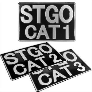 Abnormal Load STGO CAT 1 2 3 Truck Novelty Pressed metal Plate 12x8 black silver