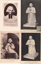 Lot 4 cartes postales anciennes ARS statue portrait du curé