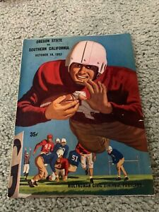 1952 Oregon State Beavers v USC Trojans Football Program Lindon Crow 10/18