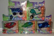 PJ Masks 5 Diecast Lot Cat Car Gekko Mobile Owl Glider Romeo's Lab Ninja Bus
