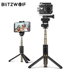 BLITZWOLF 4 IN 1 Camera Tripod Bluetooth Selfie Stick Wireless Mono Pod