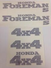 Honda Foreman 450 S Trx450fm Sticker Decal Emblem Kit Of 5