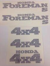 Honda Foreman 450 S Trx450fm Sticker Decal Emblem Kit Of 5