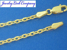 "14K Solid Yellow Gold Diamond Cut Boston Link Chain 18"" 10.7grams 2.7mm (080)"