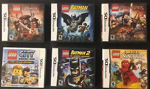 Lot Of 6 Lego Nintendo DS 3DS Cases ONLY -No Games- BATMAN LOTR PIRATES NINJA