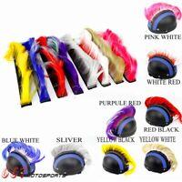 Motorcycle Biker Helmet Mohawk Attached Long Hair Feather Casco Mohawks Sticker