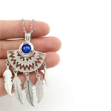 """K744 National style Dangle Leaf Pendant Necklace 18"""" Charms Diffuser"""
