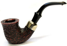 Peterson System Briar Pipe Rustic Finish Large Bent with a Free Pipe Tool (305)