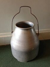 VINTAGE CREAM CAN BUCKET PAIL FOOTED WITH HANDLE 5 GALLON MILK PRIMITIVE