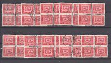 Canada 314  Stamp Centenary 1951 15c Ten blocks of four, used