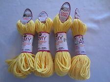Lot of 4 rolls 2mm Sunshine Amy Braided Nylon Macrame Craft Jewelry Cord 100yds
