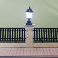 10pc 1:100 Model Railway Train Lamp Street Lights HO Scale LED Scenery
