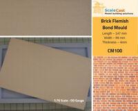 Flemish Brick Bond mould - Model Railway Scenery OO Scale - CM100
