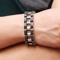 Stainless Steel Bracelet Bussiness Men's Chain Link Bracelet Bangle cuff Jewelry