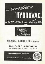W0231 Servofreno HYDROVAC - Pubblicità 1959 - Advertising