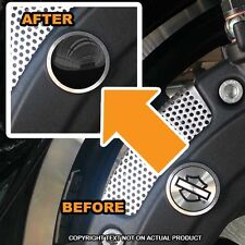 Brembo Front Brake Caliper Insert Set For Harley - GLOSS BLACK TOP - 201