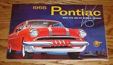 1955 Pontiac Full Line Foldout Sales Brochure 55 Chief Chieftan