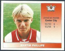 PANINI FOOTBALL LEAGUE 95 -#571-EXETER CITY-MARTIN PHILLIPS