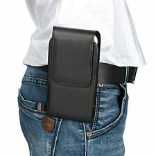 Apple iPhone XS X 8/7/6/Leather Pouch Sleeve Carry Case Magnet Belt Clip Holster