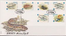 GB - JERSEY 1998 Year of the Ocean/Marine Life Series III SG 864-869 FDC FISH