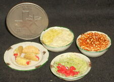 Dollhouse Miniature Taco Making Set 1:12 #A2588 Mexican Meat Beans Lettuce