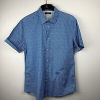 Casual Mens Diesel Shirt Blue And White Zigzag Stripes XXL but fits like a large